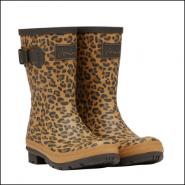 Joules Molly Mid Height Wellies Tan Leopard 1