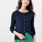 Joules Rosy Reversible Knitted Cardigan French Navy 1