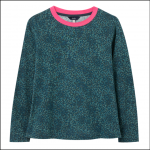 Joules Selma Long Sleeve Jersey Top Blue Animal Print 1