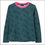 Joules Selma Long Sleeve Jersey Top Blue Animal Print 1
