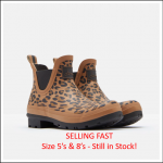 Joules Tan Leopard Short Wellibobs