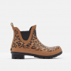 Joules Tan Leopard Short Wellibobs 2