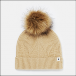 Joules Thurley Knitted Bobble Hat Oat 1