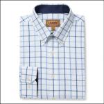 Schoffel Brancaster Classic Shirt Blue Check 1