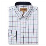 Schoffel Brancaster Classic Shirt Blue-Pink Check 1