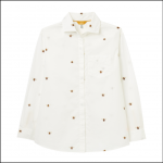 Joules Amilla Dropped Shoulder Shirt Chalk Bee 1