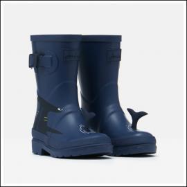 Joules Junior Printed Wellies Blue Navy Shark 1