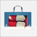 Joules Slipper & Sock Gift Set Red Walkies 1