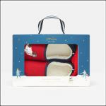 Joules Slipper & Sock Gift Set Red Walkies 1