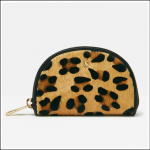 Joules Thurlow Leather Coin Purse Tan Leopard 1