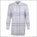 Barbour Baymouth Ladies Dress Shirt White Breeze Blue 1