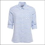 Barbour Craster Ladies Shirt Blue-White Stripe 1
