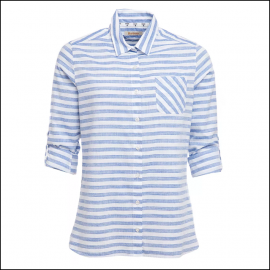 Barbour Craster Ladies Shirt Blue-White Stripe 1