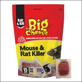 Big Cheese Mouse & Rat Killer Pasta Bait Sachets (15 Pack) 1