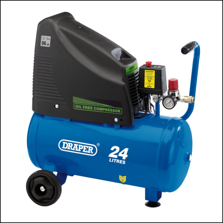 Draper 90126 230V Oil Free Air Compressor & Tool Kit