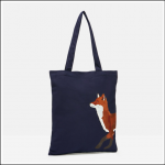 Joules Lulu Canvas Tote Bag Navy Fox 1