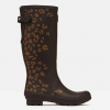 Joules Tall Printed Wellies Brown Leopard Border 2