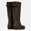Joules Tall Printed Wellies Brown Leopard Border 3