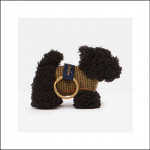 Joules Tweedle Black Scottie Dog Keyring