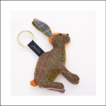Joules Tweedle Novelty Hare Tweed Keyring