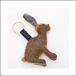 Joules Tweedle Novelty Hare Tweed Keyring