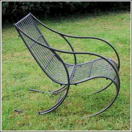 Ascalon Almalfi Garden Rocking Chair Charcoal 1