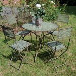 Ascalon Marlborough 5pc Bistro Set Antique Blue Rust 1