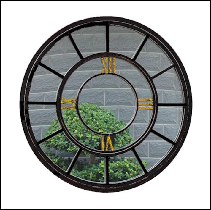 Ascalon Round Clock Mirror (80cm) 1