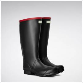 Hunter Argyll Full Knee Wellington Boots Black 1