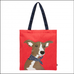 Joules Lulu Canvas Tote Bag Red Whippet