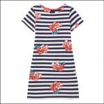 Joules Riviera Short Sleeve Jersey Dress Cream Floral 1