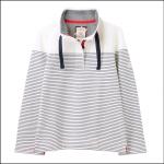 Joules Saunton Funnel Neck Sweatshirt Cream-Navy Stripe 1