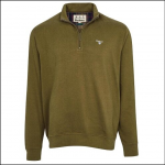 Barbour Bankside Half-Zip Sweatshirt Dark Olive 1