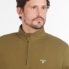 Barbour Bankside Half-Zip Sweatshirt Dark Olive 3