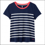 Joules Carley Classic Crew T Shirt French Navy-Cream Stripe