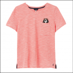 Joules Carley Print Classic Crew T Shirt Spaniel Pocket 1