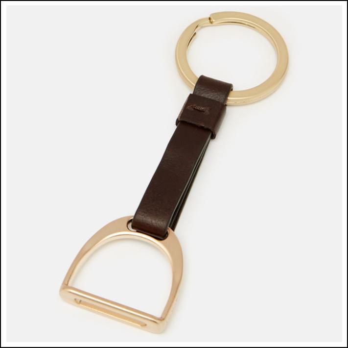 Joules Foxton Leather Stirrup Keyring 1