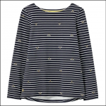 Joules Harbour Print Long Sleeve Jersey Top Bees Stripe 1