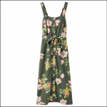 Joules Kimia Woven Strap Dress Green Floral