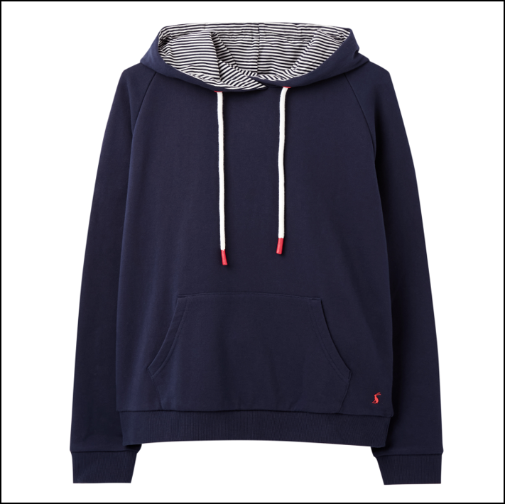 Joules Lil Raglan Hooded Sweatshirt French Navy 1
