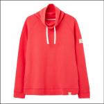 Joules Nadia Ribbed Sweatshirt Poppy 1