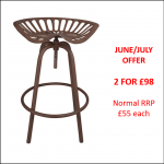 Ascalon Rustic Tractor Seat Stool JUNE-JULY OFFER