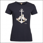 Barbour Whitmore Ladies T-Shirt Navy 1