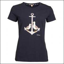 Barbour Whitmore Ladies T-Shirt Navy 1