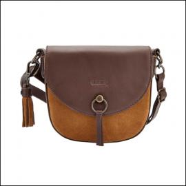 Dubarry Crossbar Camel Suede Saddle Bag 1