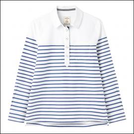 Joules Ashbrook Pop Over Deck Shirt White Blue Stripe 1