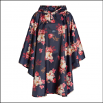 Joules Showerproof Pack-Away Poncho French Navy Bircham Bloom 1