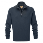 Schoffel Cotton French Rib Qtr Zip Jumper Navy 1