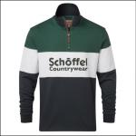 Schoffel Unisex Qtr Zip Navy Rugby Shirt 1