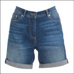 Barbour Maddison Ladies Denim Shorts Indigo
